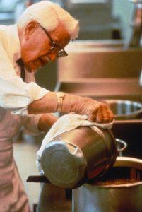 Colonel Sanders Cooking