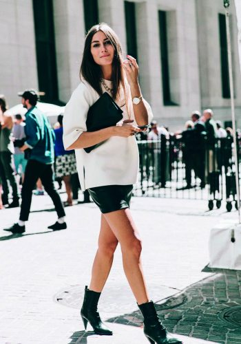 New_York_Fashion_Week-Spring_Summer-2016-Street-Style-Jessica_Minkoff-Diesel_Black_And_Gold-Giorgia_Tordini-Mini_Skirt-3-790x1185