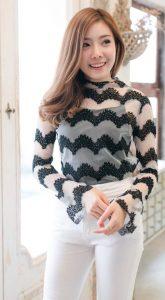 เสื้อซีทรูแฟชั่น-เสื้อซีทรูแขนยาว.022